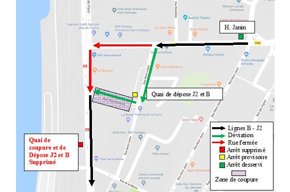 Villeneuve-St-Georges - Travaux sur RN6