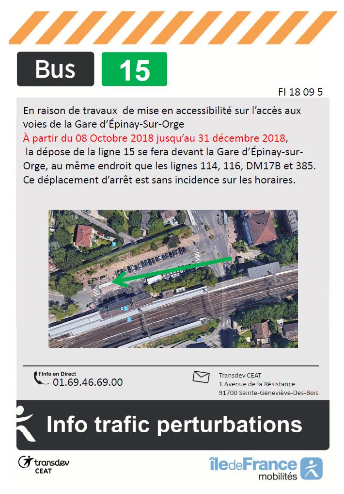 Travaux Gare d'Épinay-Sur-Orge