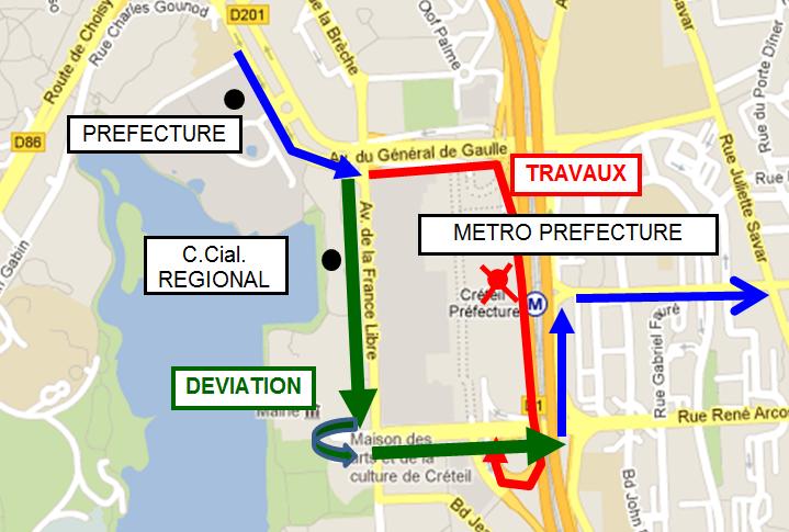 CRETEIL - Ligne 12 - Travaux