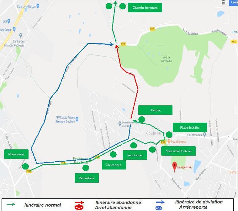 Ligne 643 : Travaux Route du Bois de Bernouille