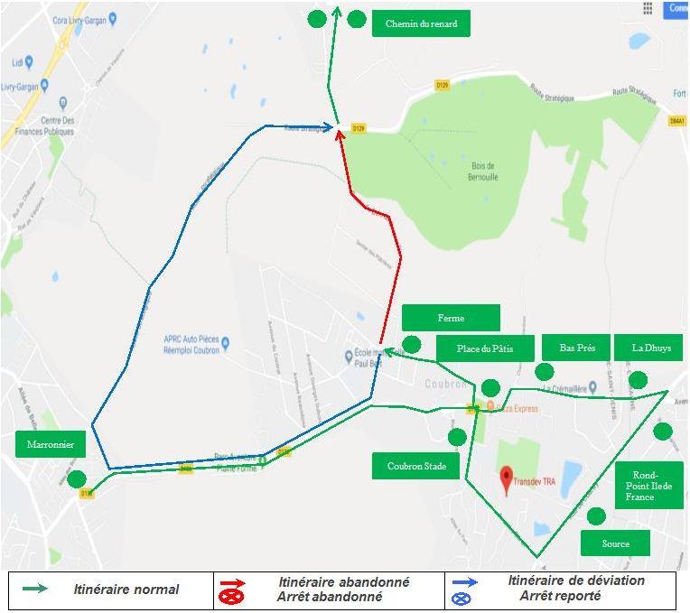 Ligne 644 : Travaux Route du Bois de Bernouille