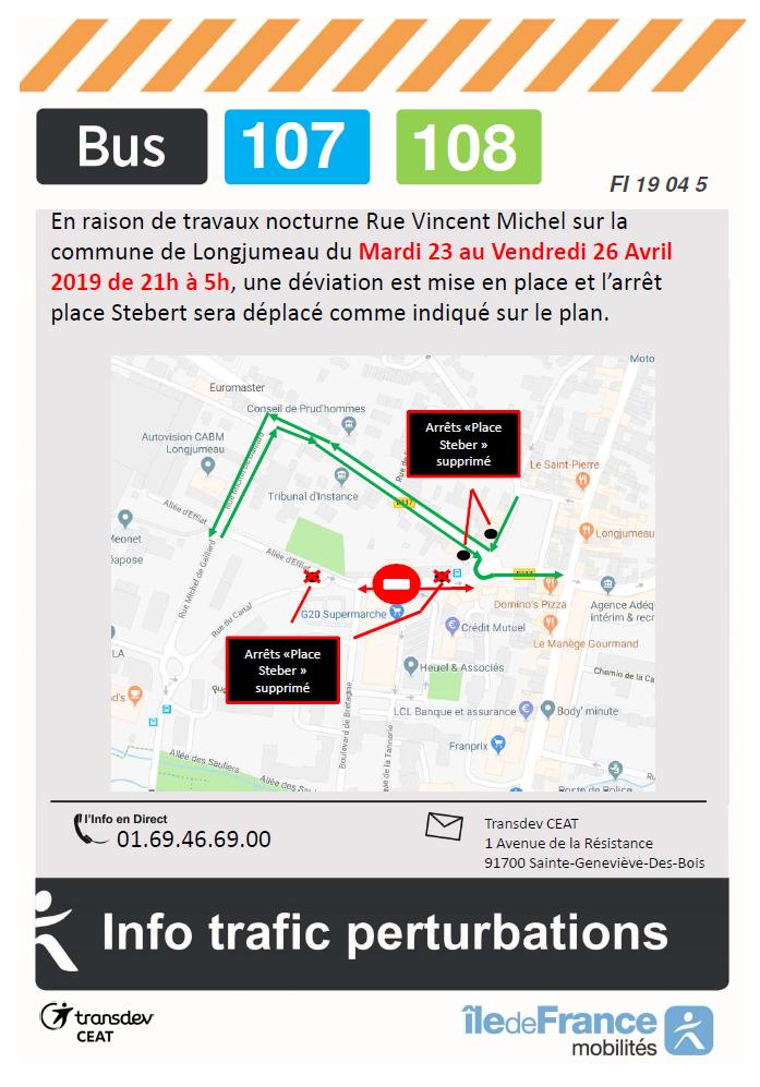 Fermeture Rue Vincent Michel Longjumeau