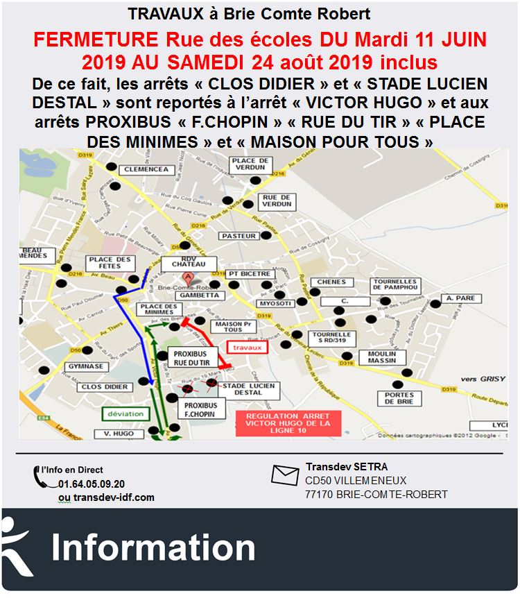 Lignes 10, 23- BRIE COMTE ROBERT - Travaux