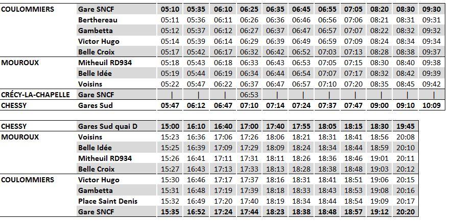 Express17 - Services supplémentaires 12/13décembre