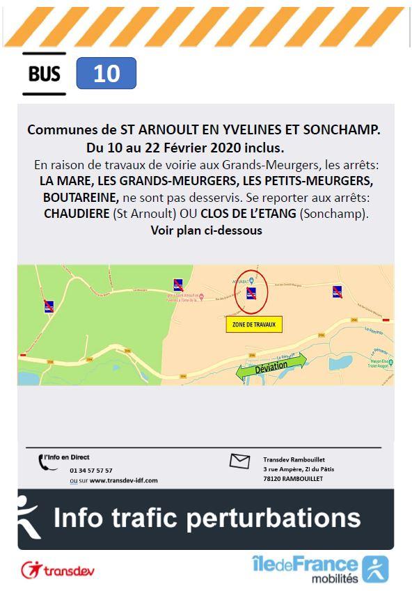 Transdev Rambouillet Travaux Ligne 10