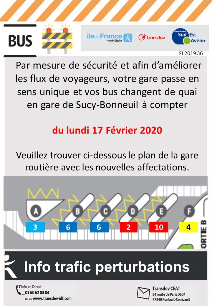 Changement gare de Sucy-Bonneuil