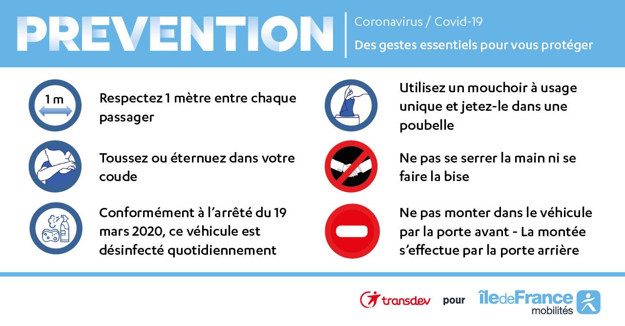 COVID-19 : mesures de prévention pour nos clients et nos agents
