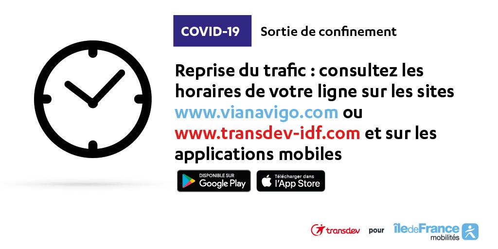 COVID 19 - Reprise progressive trafic 11 mai