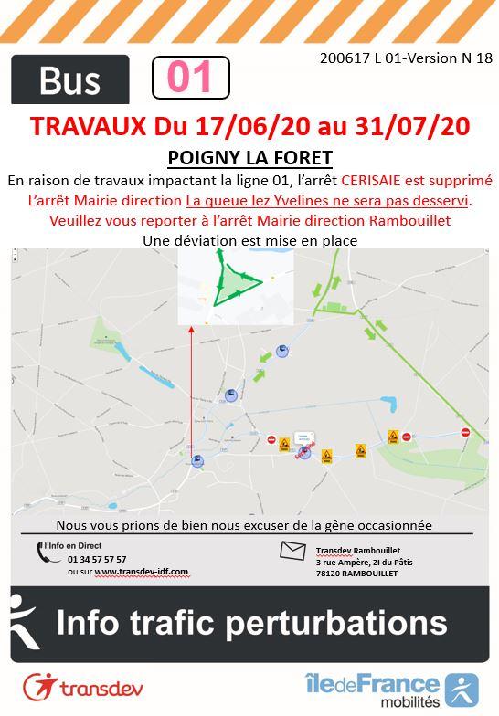 Transdev Rambouillet Travaux Ligne 01