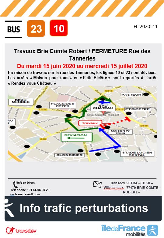 Ligne 23 10 - Travaux BRIE COMTE ROBERT