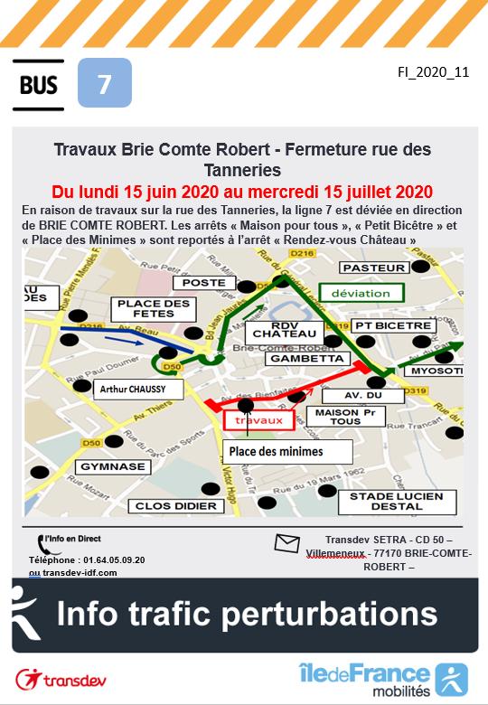Ligne 7 - Travaux BRIE COMTE ROBERT