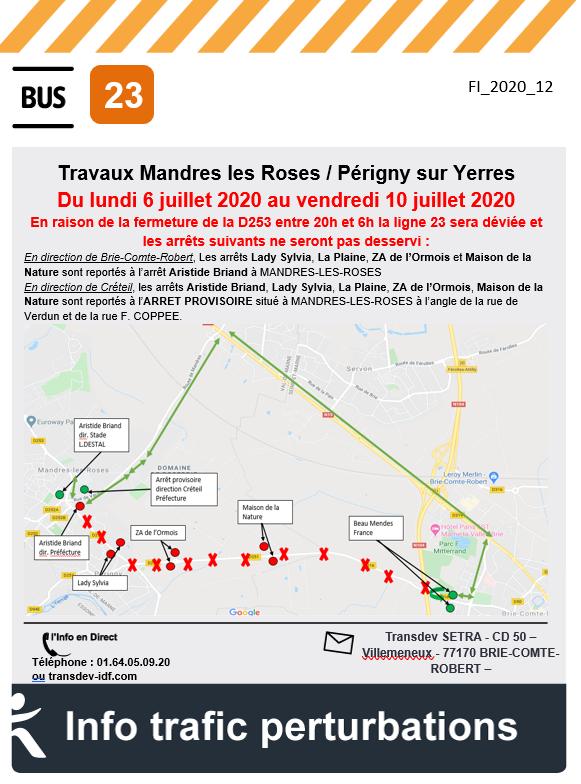 Ligne 23 - Mandres les Roses / Perigny sur Yerres