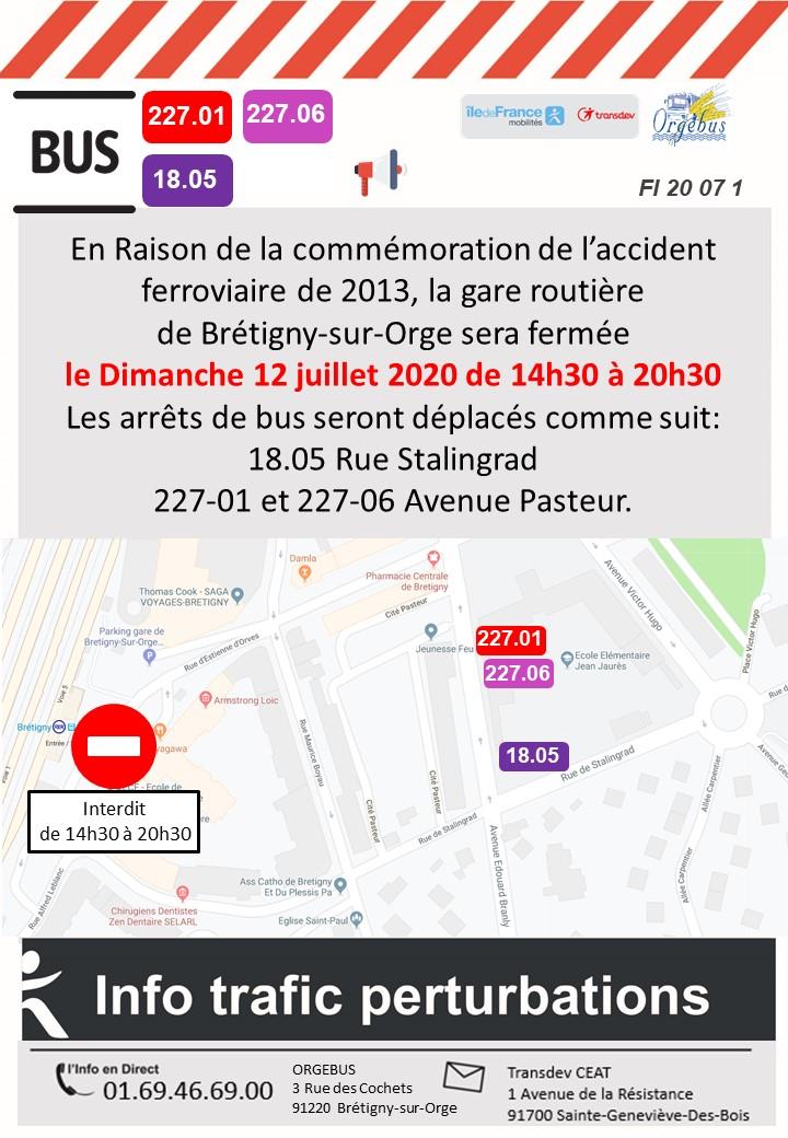 Commémoration Gare de Brétigny-sur-Orge