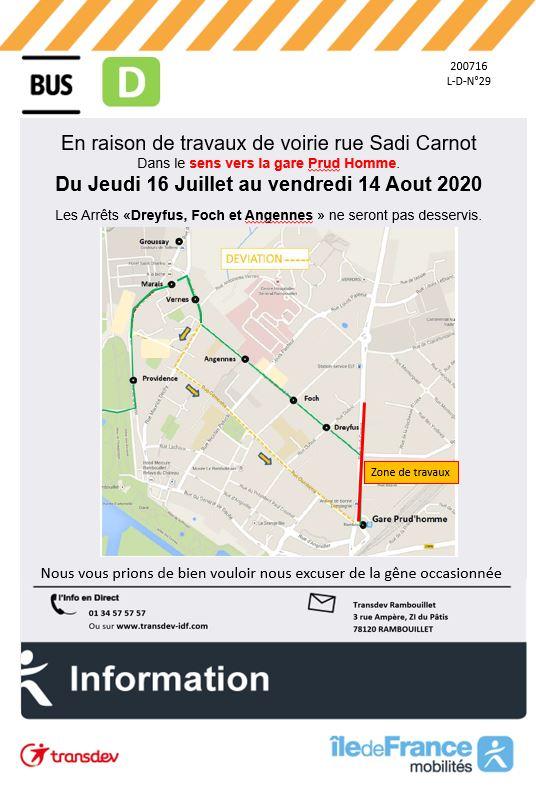 Transdev Rambouillet Travaux Ligne D
