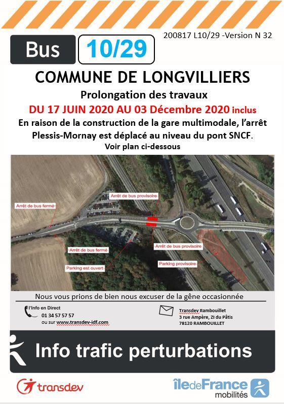 Transdev Rambouillet Perturbation ligne 29