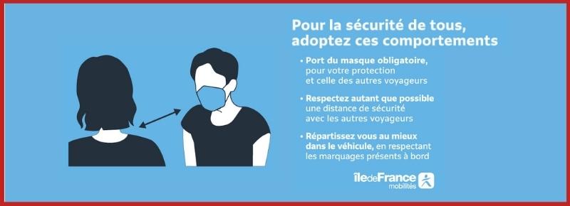 Port du masque obligatoire et autres mesures de précaution