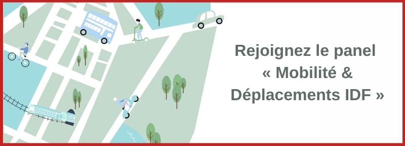 Rejoignez le panel « Mobilité & Déplacements IDF »