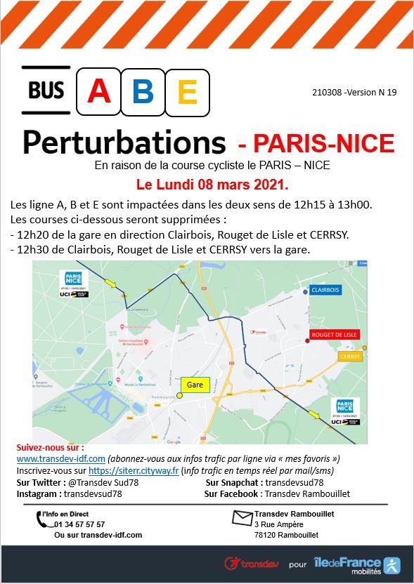Transdev Rambouillet Travaux Ligne A-B-E