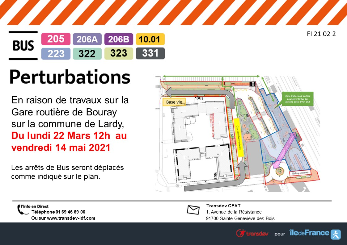 Travaux Gare de Bouray