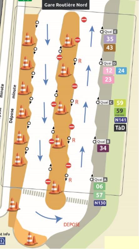 Travaux gare de Chessy Nord du 03 au 31 mai 2021