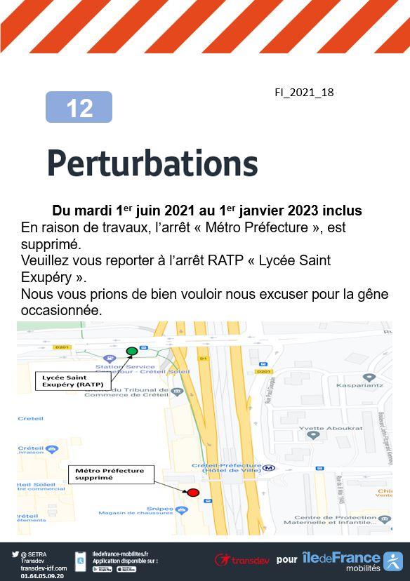 Ligne 12 - Travaux - Créteil - Métro Préfecture