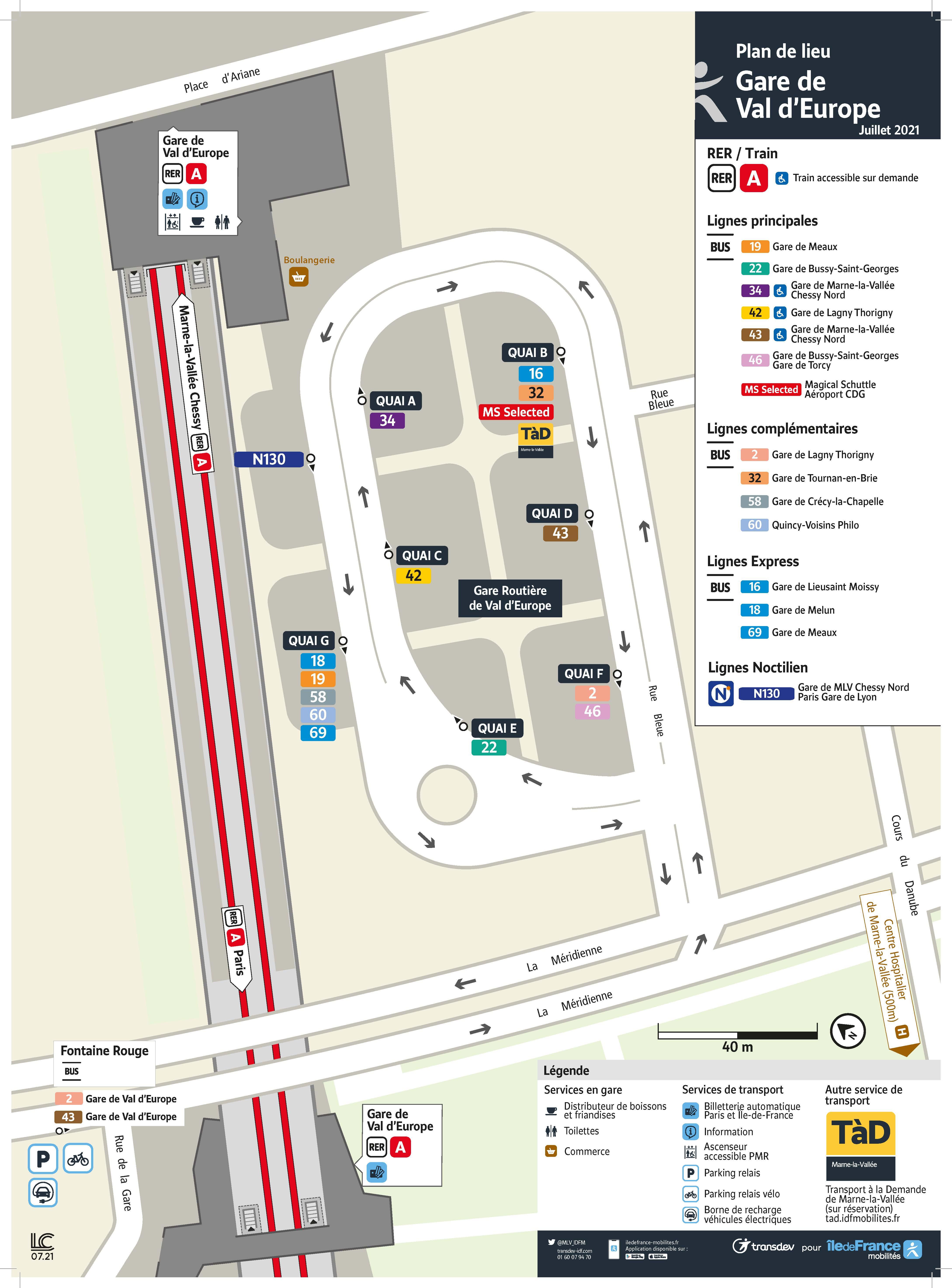 Modification Gare de Val d'Europe à/p 19/07