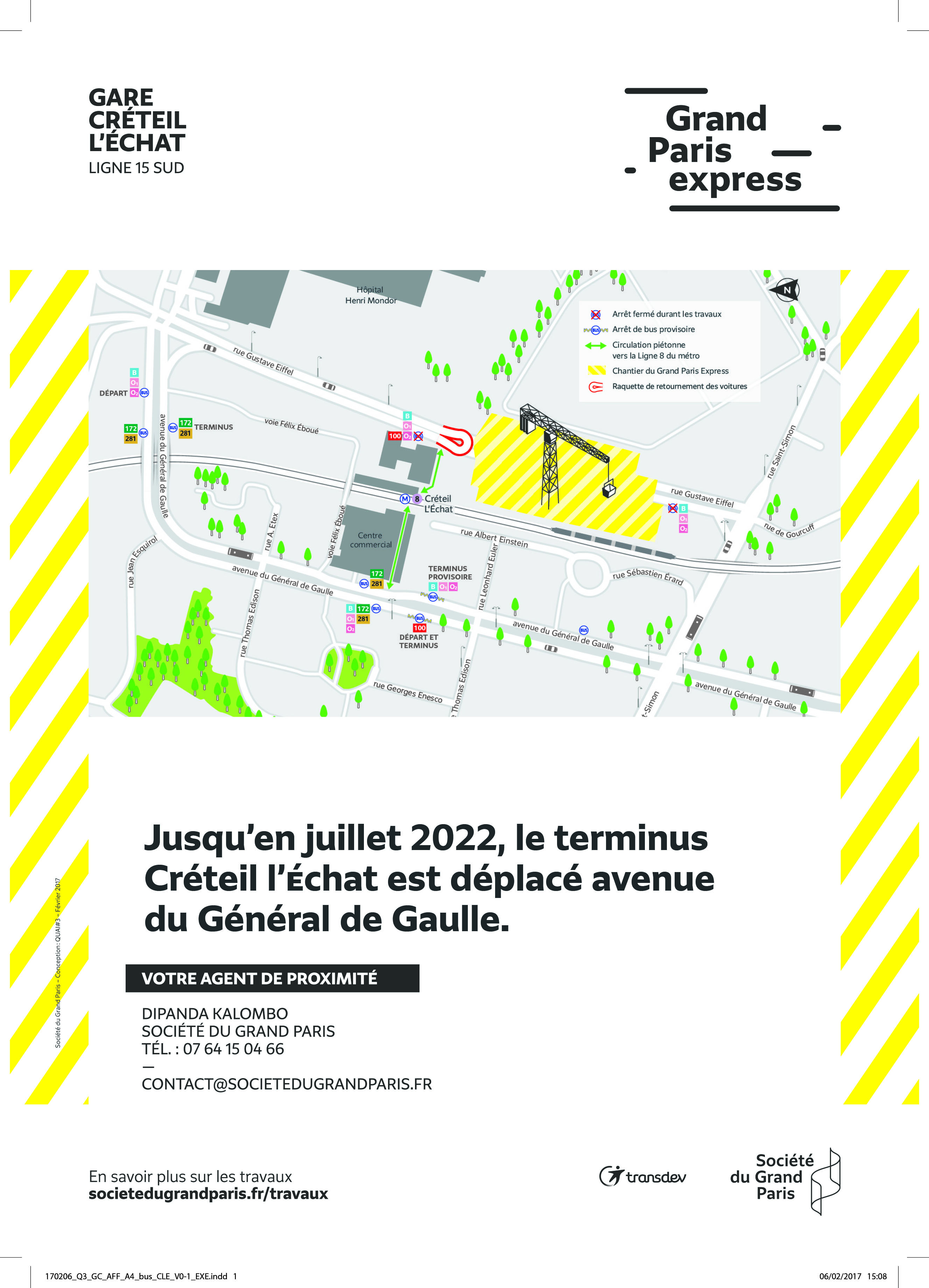 CRETEIL - Travaux Grand Paris à l'Echat