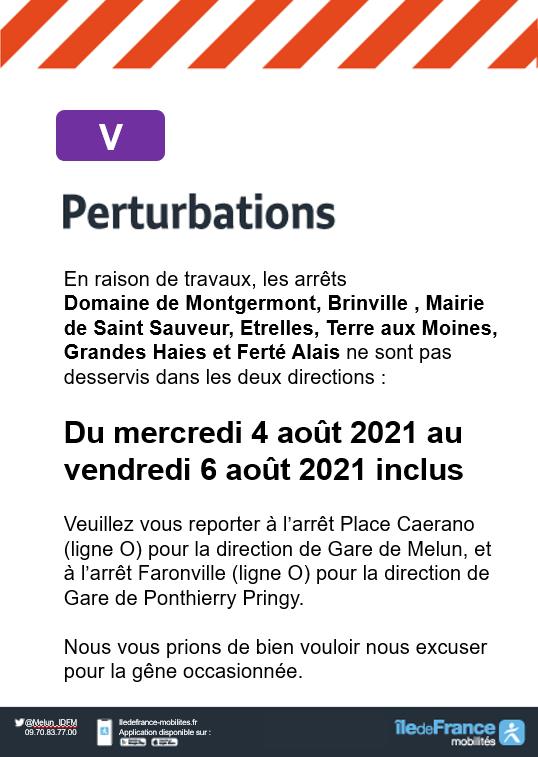 Ligne V - Saint-Sauveur-sur-Ecole - Travaux