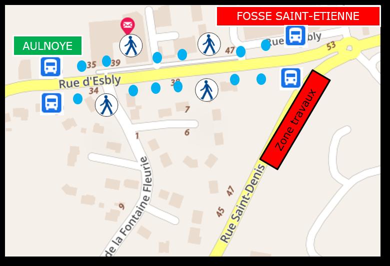 L06 travaux rue Saint-Denis du 20-09 au 08-10-21