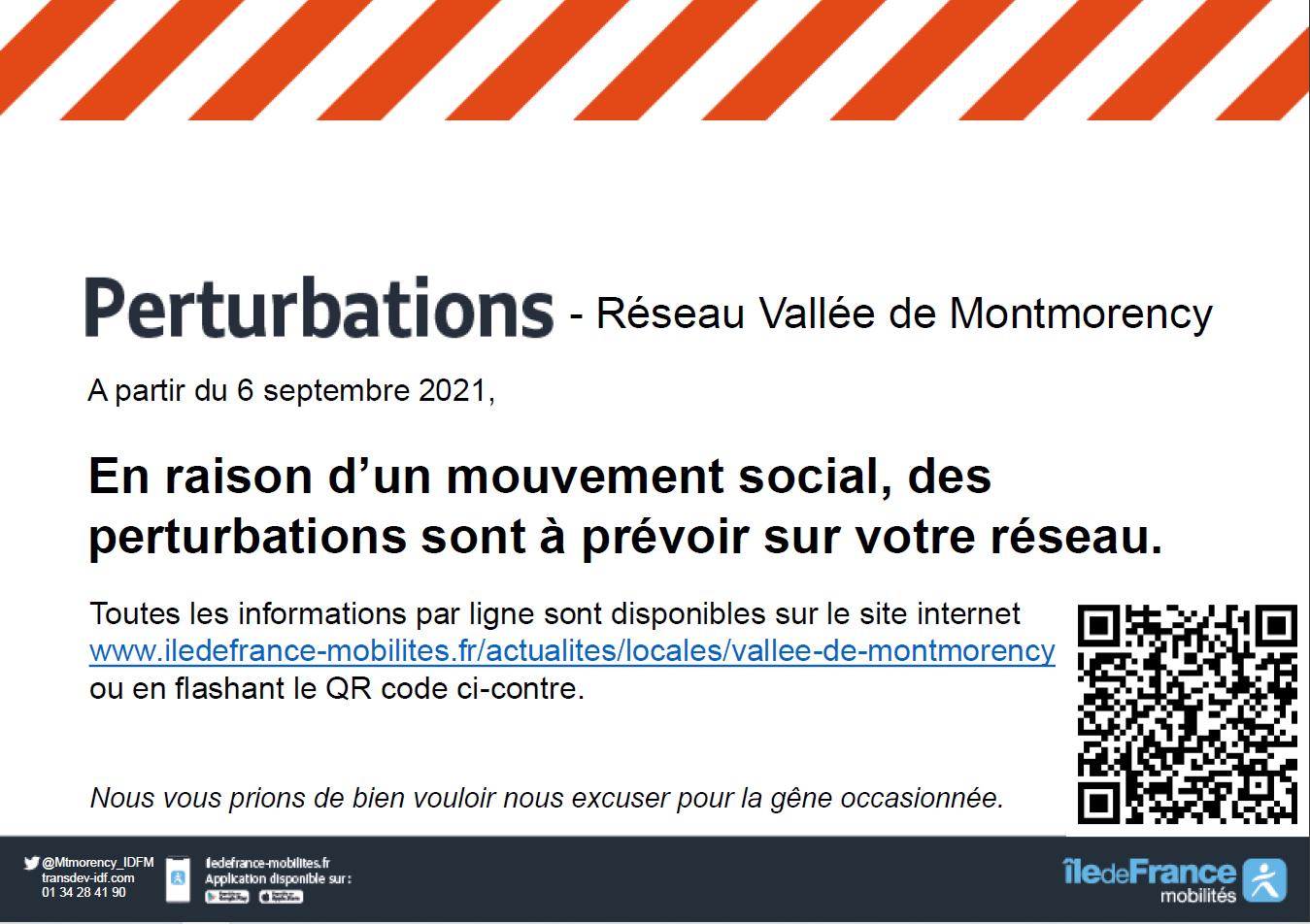 Perturbations - Réseau Vallée de Montmorency